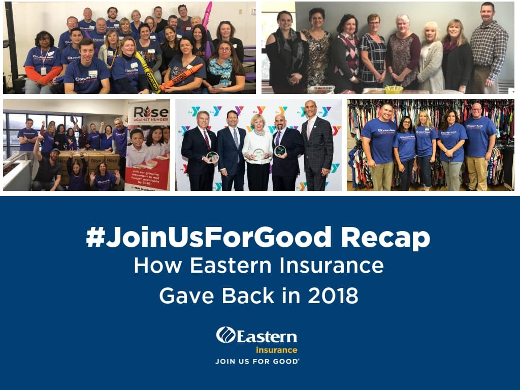 #JoinUsForGood Recap: How Eastern Insurance Gave Back in 2018